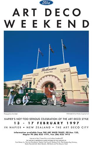1997 Art Deco Weekend Poster