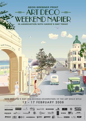 2008 Art Deco Weekend Poster