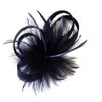 Fascinator - Blue Feather
