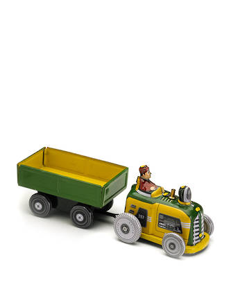 Tin Tractor and cart