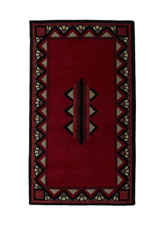 Daily Telegraph Red and Black rug