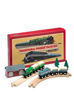 Traditional wooden train set.