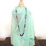 Tassel & Bead Necklace - Navy
