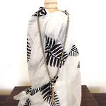 Fern Scarf - White